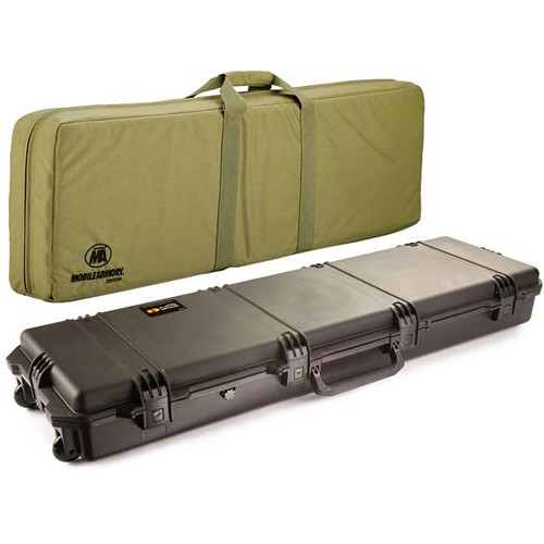Pelican 472-PWC-DW3300 FieldPak Rifle Case with Soft Shell (Black/Coyote Tan)