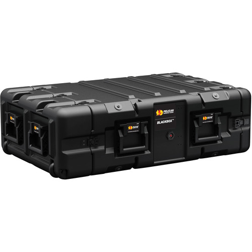 Pelican BLACKBOX-3U BlackBox Rackmount Case (Metric Threads, 3 RU)
