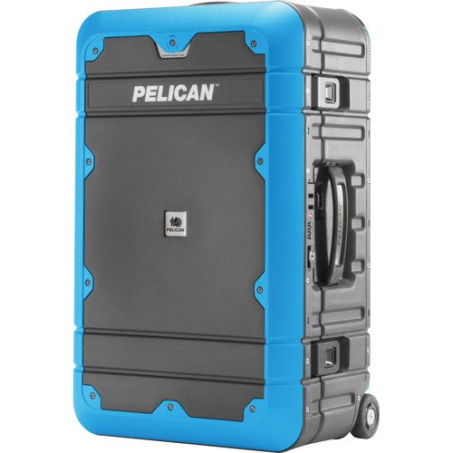 Pelican EL22 Elite Carry-On Luggage with Enhanced Travel System (Gray and Blue)