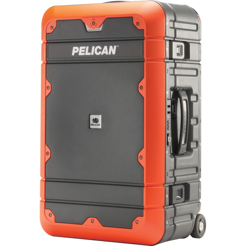 Pelican EL22 Elite Carry-On Luggage with Enhanced Travel System (Gray and Orange)