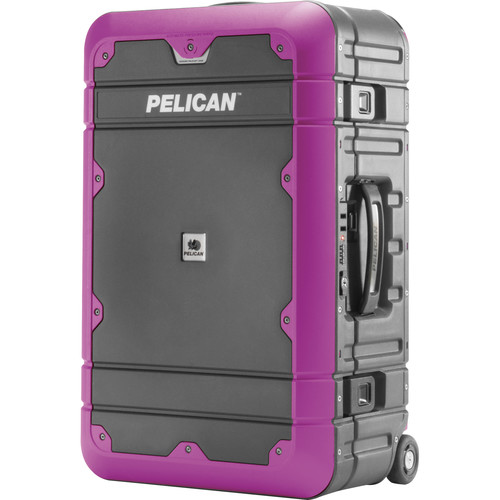 Pelican EL22 Elite Carry-On Luggage with Enhanced Travel System (Gray and Purple)