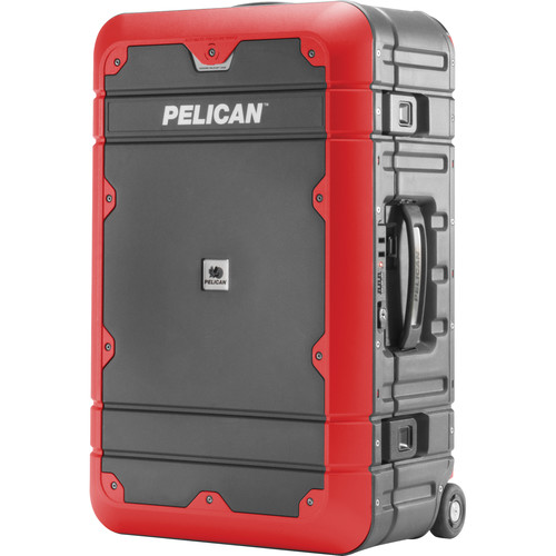 Pelican EL22 Elite Carry-On Luggage with Enhanced Travel System (Gray and Red)