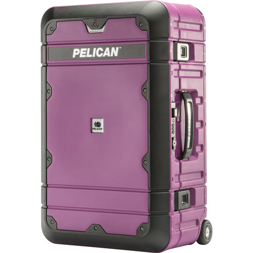Pelican EL22 Elite Carry-On Luggage with Enhanced Travel System (Plum and Black)
