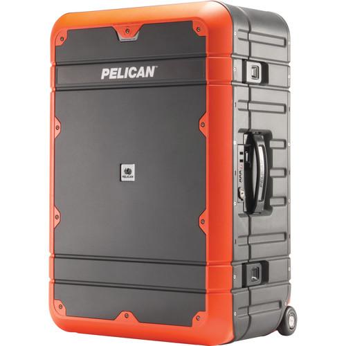 Pelican EL27 Elite Weekender Luggage with Enhanced Travel System (Gray and Orange)