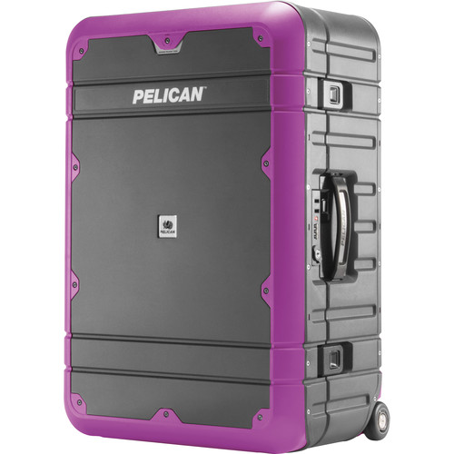 Pelican EL27 Elite Weekender Luggage with Enhanced Travel System (Gray and Purple)