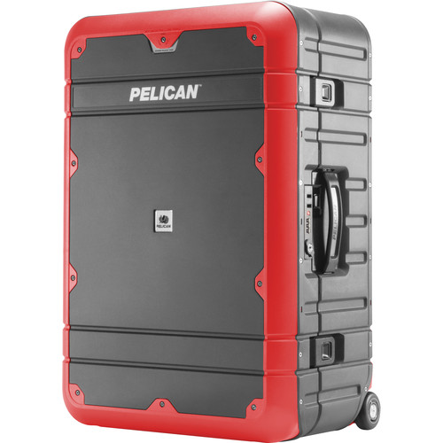 Pelican EL27 Elite Weekender Luggage with Enhanced Travel System (Gray and Red)