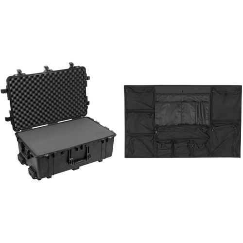 Pelican Pelican 1650 Case with Foam Set and 1659 Photo Lid Organizer Kit (Black)