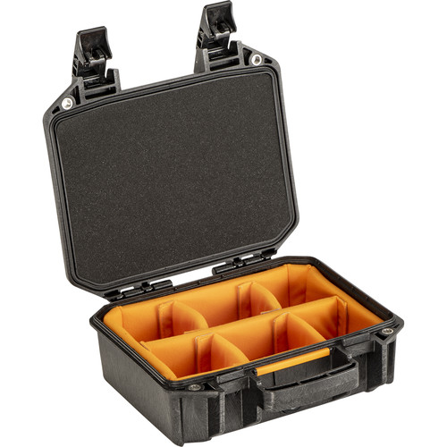 Pelican Vault V100 Small Case with Lid Foam and Dividers (Black)