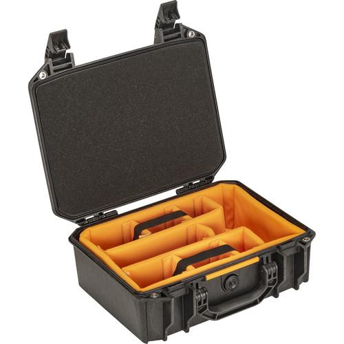 Pelican Vault V200 Medium Case with Lid Foam and Dividers (Black)