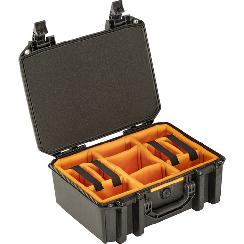 Pelican Vault V300 Large Case with Lid Foam and Dividers (Black)
