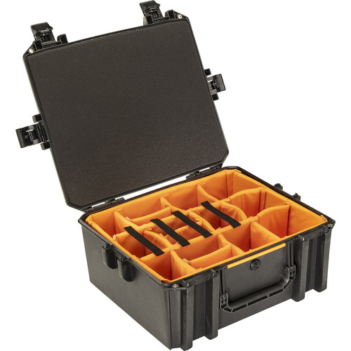 Pelican Vault V600 Large Equipment Case with Lid Foam and Dividers (Black)