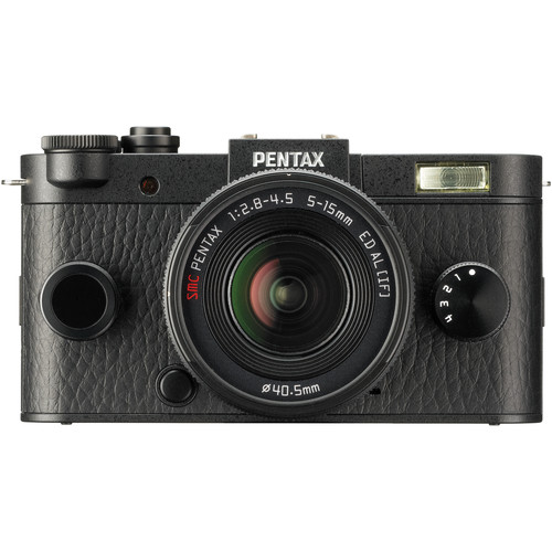 Pentax Q-S1 Mirrorless Digital Camera with 5-15mm Lens (Black)