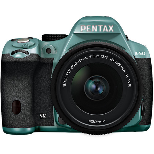 Pentax K-50 Digital SLR Camera with 18-55mm f/3.5-5.6 Lens (Mint/Black)