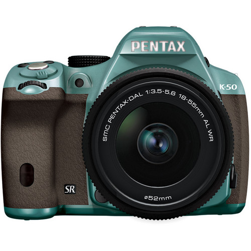 Pentax K-50 Digital SLR Camera with 18-55mm f/3.5-5.6 Lens (Mint/Brown)