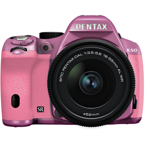 Pentax K-50 Digital SLR Camera with 18-55mm f/3.5-5.6 Lens (Lilac/Pink)