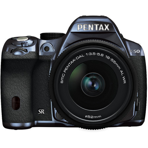 Pentax K-50 Digital SLR Camera with 18-55mm f/3.5-5.6 Lens (Metal Navy/Black)