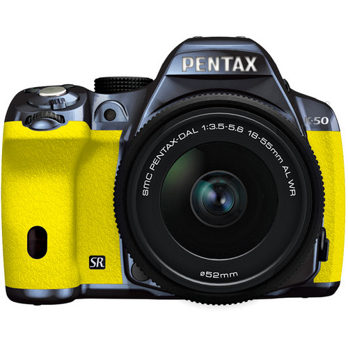 Pentax K-50 Digital SLR Camera with 18-55mm f/3.5-5.6 Lens (Metal Navy/Yellow)