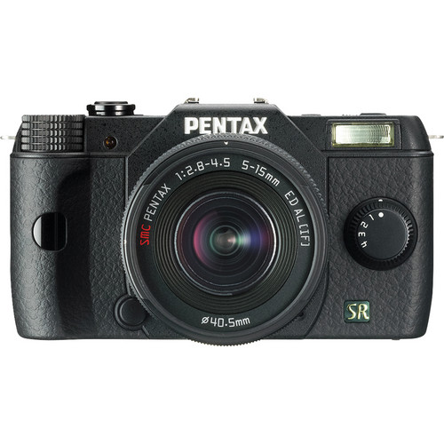 Pentax Q7 Compact Mirrorless Camera with 5-15mm f/2.8-4.5 Zoom Lens (Black)