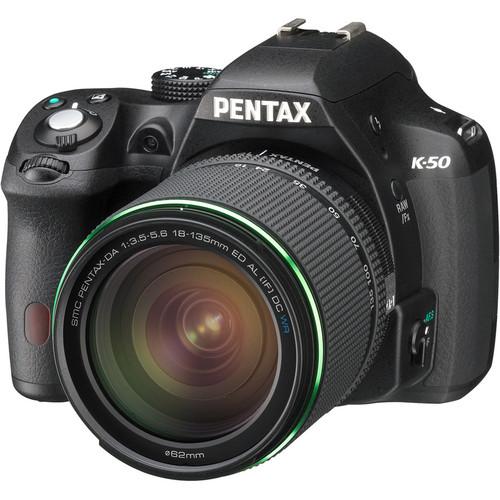 Pentax K-50 DSLR Camera with 18-135mm Lens (Black)
