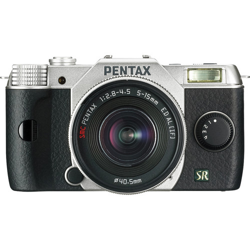 Pentax Q7 Compact Mirrorless Camera with 5-15mm f/2.8-4.5 Zoom Lens (Silver)