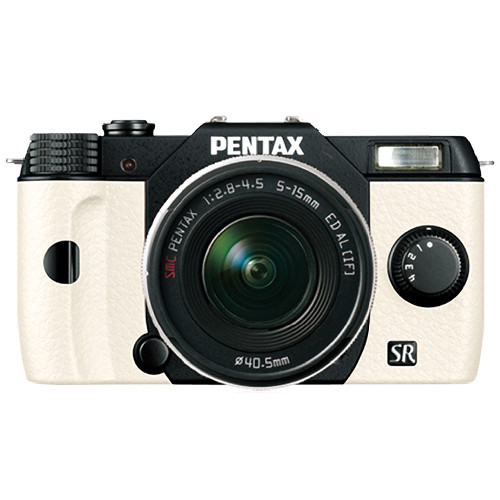 Pentax Q10 Compact Mirrorless Camera with 5-15mm Lens (Black / White)