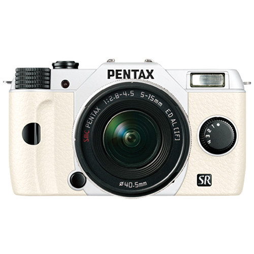 Pentax Q10 Compact Mirrorless Camera with 5-15mm Lens (White)