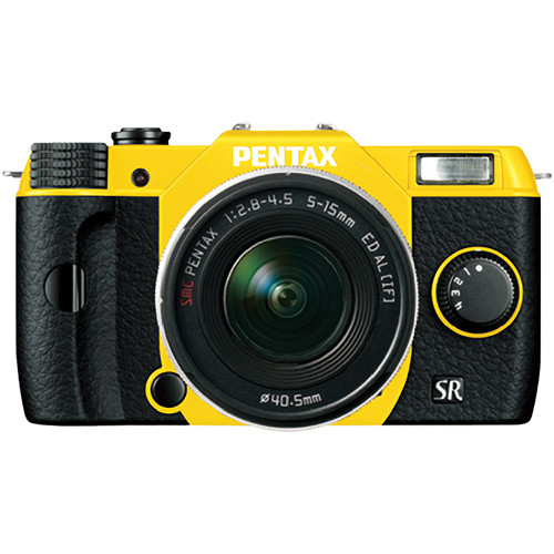 Pentax Q10 Compact Mirrorless Camera with 5-15mm Lens (Yellow / Black)