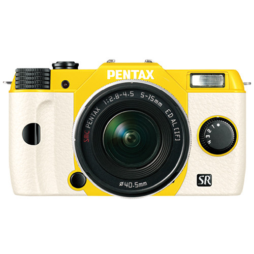 Pentax Q10 Compact Mirrorless Camera with 5-15mm Lens (Yellow / White)