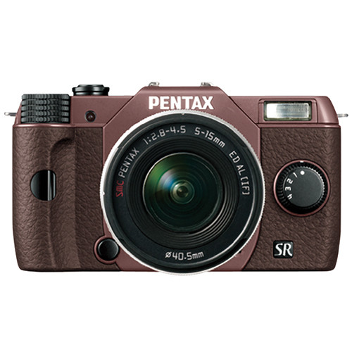 Pentax Q10 Compact Mirrorless Camera with 5-15mm Lens (Cocoa Brown / Brown)