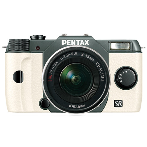 Pentax Q10 Compact Mirrorless Camera with 5-15mm Lens (Olive Green / White)