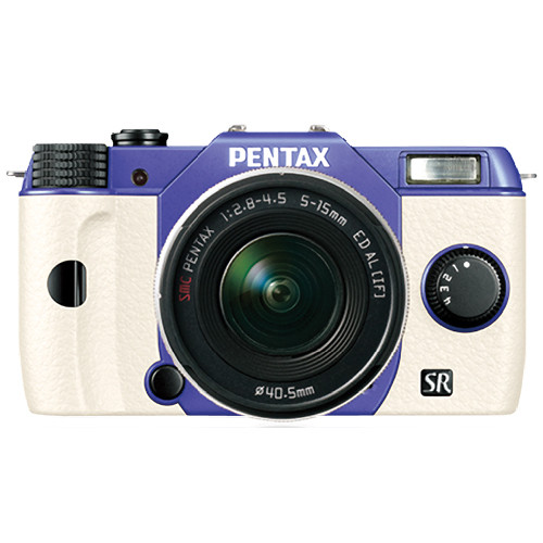 Pentax Q10 Compact Mirrorless Camera with 5-15mm Lens (Violet / White)