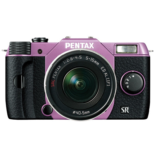 Pentax Q10 Compact Mirrorless Camera with 5-15mm Lens (Lilac / Black)