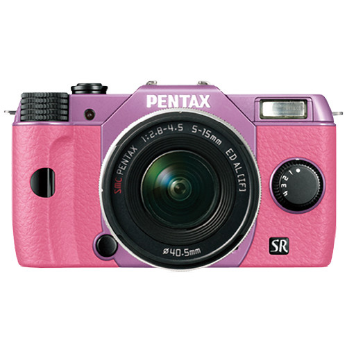 Pentax Q10 Compact Mirrorless Camera with 5-15mm Lens (Lilac / Pink)