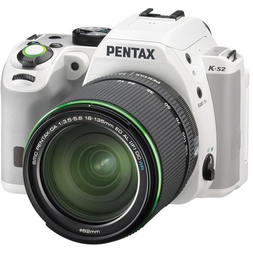 Pentax K-S2 DSLR Camera with 18-135mm Lens (White)