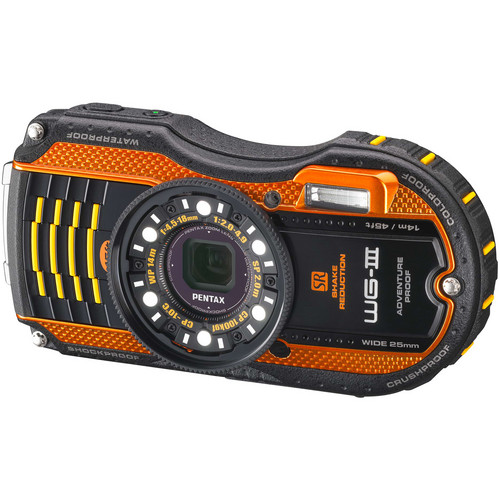 Pentax WG-3 Digital Camera Kit (Orange)