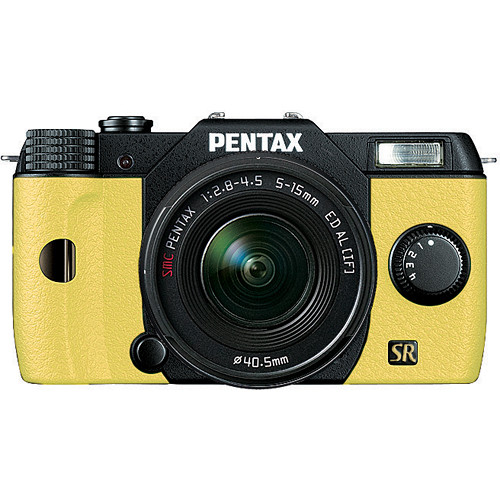 Pentax Q7 Compact Mirrorless Camera with 5-15mm f/2.8-4.5 Zoom Lens (Black/Yellow)