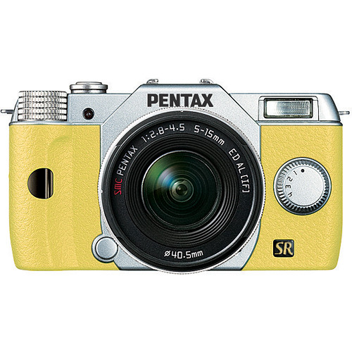 Pentax Q7 Compact Mirrorless Camera with 5-15mm f/2.8-4.5 Zoom Lens (Silver/Yellow)