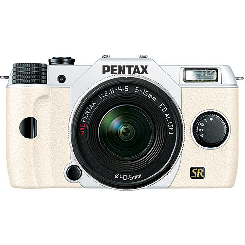 Pentax Q7 Compact Mirrorless Camera with 5-15mm f/2.8-4.5 Zoom Lens (White/White)