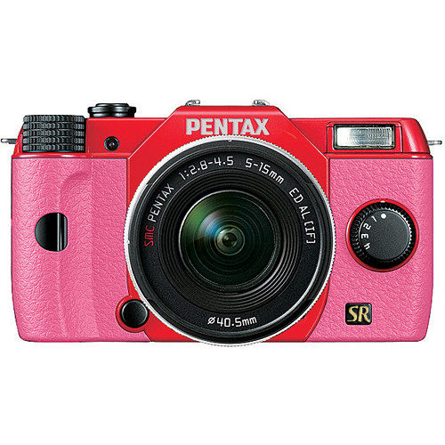 Pentax Q7 Compact Mirrorless Camera with 5-15mm f/2.8-4.5 Zoom Lens (Red/Pink)