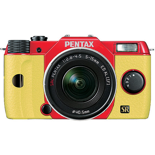 Pentax Q7 Compact Mirrorless Camera with 5-15mm f/2.8-4.5 Zoom Lens (Red/Yellow)