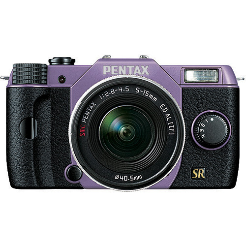 Pentax Q7 Compact Mirrorless Camera with 5-15mm f/2.8-4.5 Zoom Lens (Lavender/Black)
