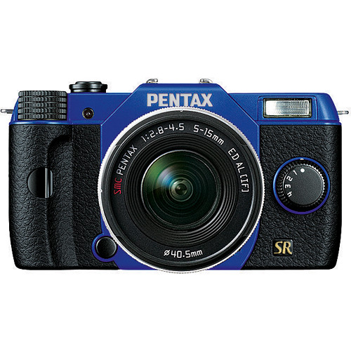 Pentax Q7 Compact Mirrorless Camera with 5-15mm f/2.8-4.5 Zoom Lens (Blue/Black)