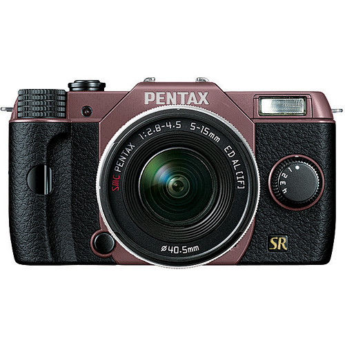 Pentax Q7 Compact Mirrorless Camera with 5-15mm f/2.8-4.5 Zoom Lens (Cocoa Brown/Black)