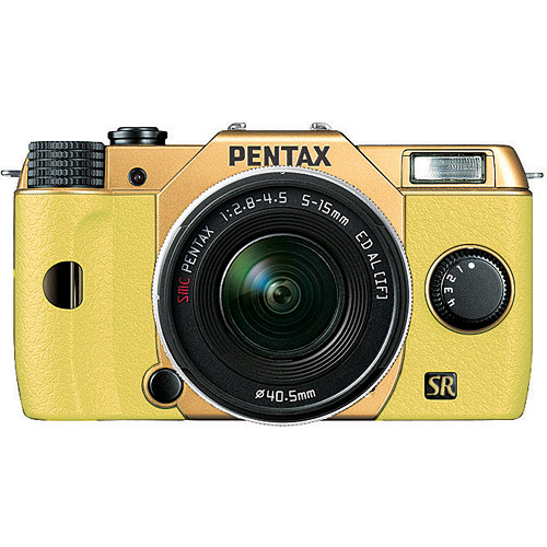 Pentax Q7 Compact Mirrorless Camera with 5-15mm f/2.8-4.5 Zoom Lens (Gold/Yellow)