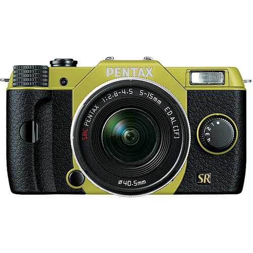 Pentax Q7 Compact Mirrorless Camera with 5-15mm f/2.8-4.5 Zoom Lens (Lime/Black)