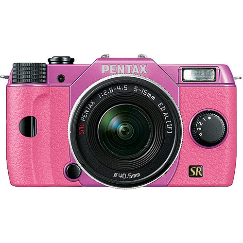 Pentax Q7 Compact Mirrorless Camera with 5-15mm f/2.8-4.5 Zoom Lens (Lilac/Pink)