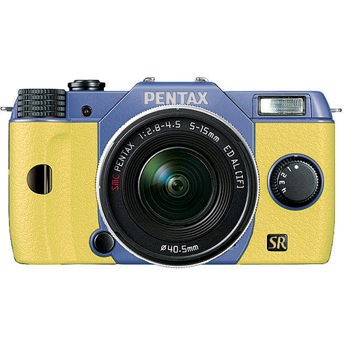 Pentax Q7 Compact Mirrorless Camera with 5-15mm f/2.8-4.5 Zoom Lens (Sky/Yellow)