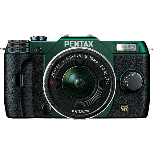 Pentax Q7 Compact Mirrorless Camera with 5-15mm f/2.8-4.5 Zoom Lens (Metal Green/Black)