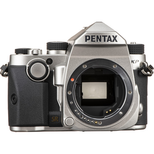 Pentax KP DSLR Camera (Body Only, Silver)