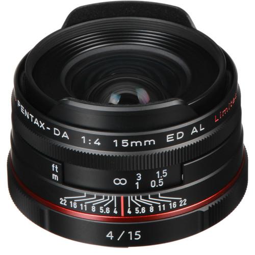 Pentax HD Pentax DA 15mm f/4 ED AL Limited Lens (Black)
